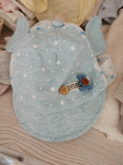 婴儿帽子夏薄款宝宝帽子0-6-12个月新生儿夏季遮阳帽防晒网帽 熊猫翅膀网帽米色 38-45cm适合3-12个可调节 晒单图