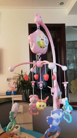 源乐堡(YuanLeBao)婴儿玩具0-1岁床头铃音乐旋转挂饰床铃新生儿摇铃宝宝牙胶0-6个月年货节 (充电版)【赠增高器】遥控版梦幻森林 粉红 晒单图