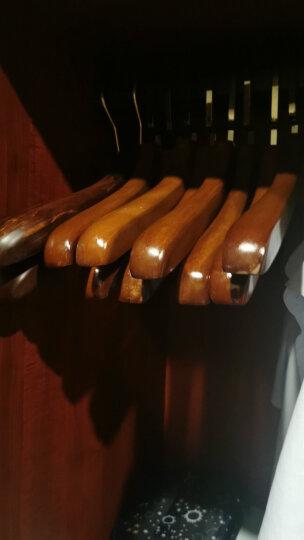 四喜 木头衣架 实木男女衣挂衣撑 服装店衣服架 多功能衣裤架 6021男原木色10支 晒单图