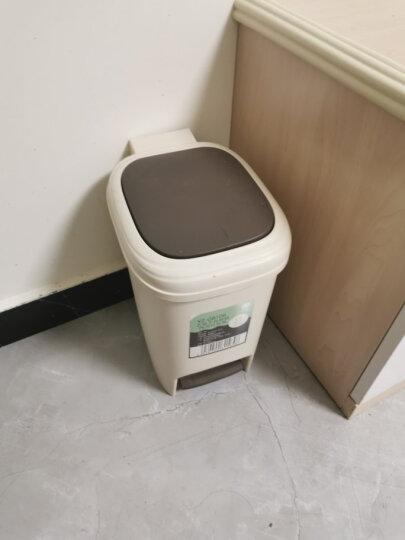 艺姿大号家用厨房干湿分类垃圾桶静音缓降手按脚踏双盖垃圾篓筒卧室卫生间客厅酒店通用 8LYZ-GB106 晒单图