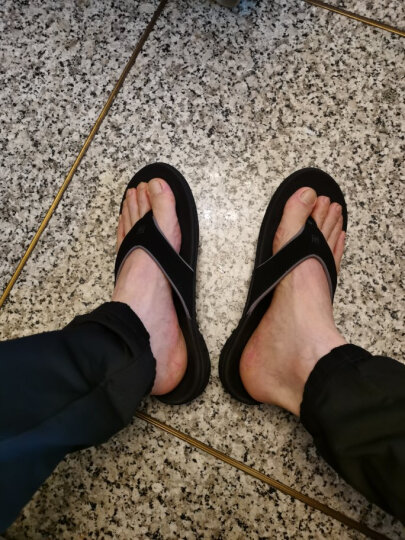 Spenco人字拖夏季新款沙滩休闲时尚减震舒适防滑人字拖鞋 男款 42.5 晒单图