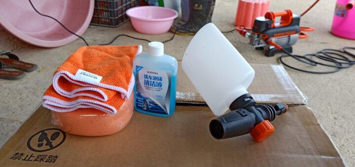 亿力家用洗车机高压清洗机洗车泵洗车神器4420 至尊45°喷头版-底盘车顶冲洗 晒单图