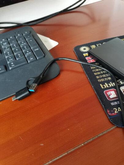 绿联 Type-C移动硬盘盒2.5英寸USB3.0 SATA串口笔记本台式外置壳固态机械ssd硬盘 USB固定线款 晒单图