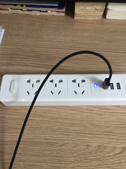 飞利浦(PHILIPS)新国标USB智能插座 3USB+2孔位 1.6米带保护门 插排/插线板/排插/接线板/拖线板 晒单图