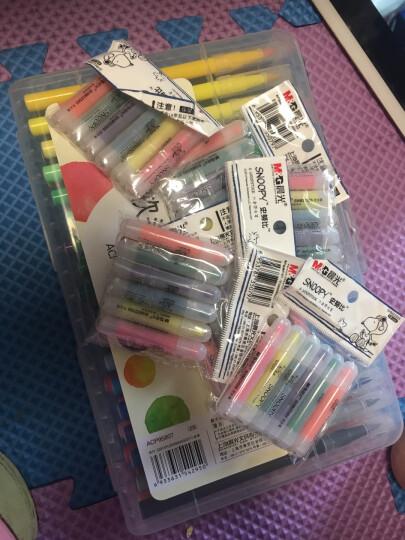 晨光(M&G)文具36色软头水彩笔 纤维头可水洗绘画彩笔 儿童涂鸦画笔 36支/盒ACP95807 晒单图