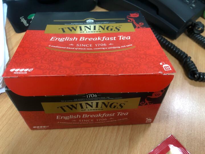 英国川宁(TWININGS) 金毫英式早餐红茶 进口茶叶袋泡茶包 15包*3g 晒单图