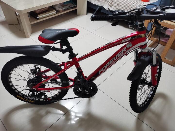 永久(FOREVER) 永久儿童自行车21速变速20寸山地车铝合金车架山地自行车街景型 银橙色 20吋 晒单图