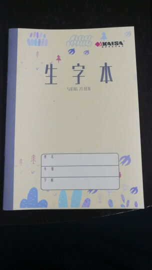 凯萨(KAISA)英语本加厚纸英文练习本外语作业本10本装 20张36K(125×175mm) 晒单图