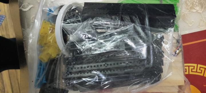千水星 科技模型材料包 手工电子积木塑料条齿轮电机车轮电池板电池盒螺旋桨玩具配件集合DIY 40种 晒单图