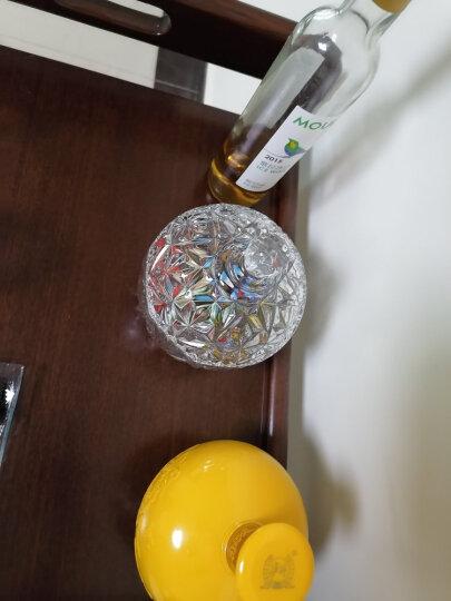 弗莱文茨钻石糖缸糖罐欧式水晶大号储物罐 零食储存玻璃瓶子 密封罐子 彩色小号 晒单图