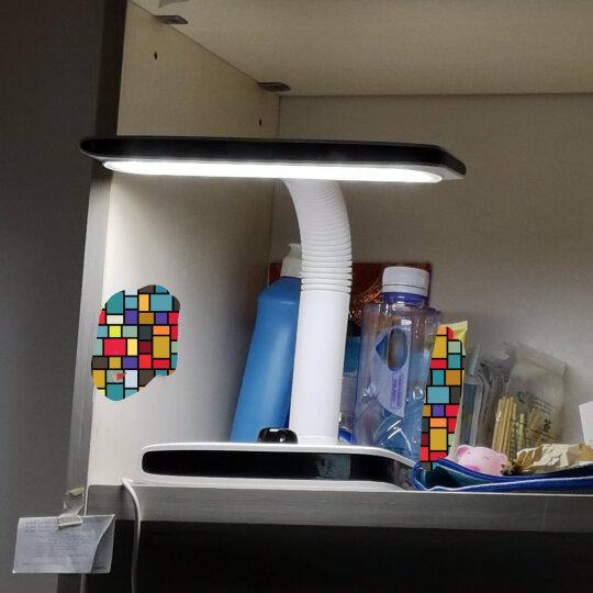久量(DP)led台灯卧室床头学生学习读写台灯 锂电池充电插电两用柔光照射DP-1040(黑) 晒单图