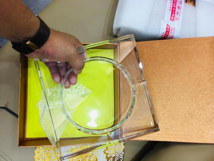 贝鲁斯 水晶烟灰缸 欧式创意大号烟灰缸办公室酒店客厅摆件印字印标 透明20厘米 晒单图