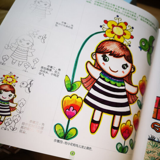 童心童画 全套6册 儿童幼儿美术素质教育专业教材  幼儿画画培训教材 创意画册绘画书 晒单图