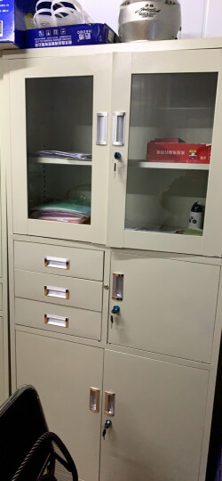 义顺 文件柜铁皮柜钢制档案柜资料柜带锁抽屉柜书柜办公家具财务凭证柜密码柜办公室柜子 图二 0.7mm 晒单图