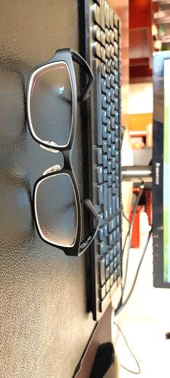 亿超 近视超轻眼镜框男款休闲款防蓝光时尚方框眼睛女钨碳塑钢大小码光学镜架可配镜有度数Y0001/2 大框-外黑内蓝 配亿超1.67防蓝光镜片(适配200-800度) 晒单图