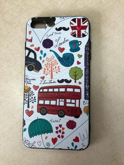江铭 苹果X手机壳iPhone8Plus防摔硅胶XR保护套XsMax磨砂7P卡通超薄女款6s创意可爱 苹果7Plus/8Plus-英伦汽车 晒单图