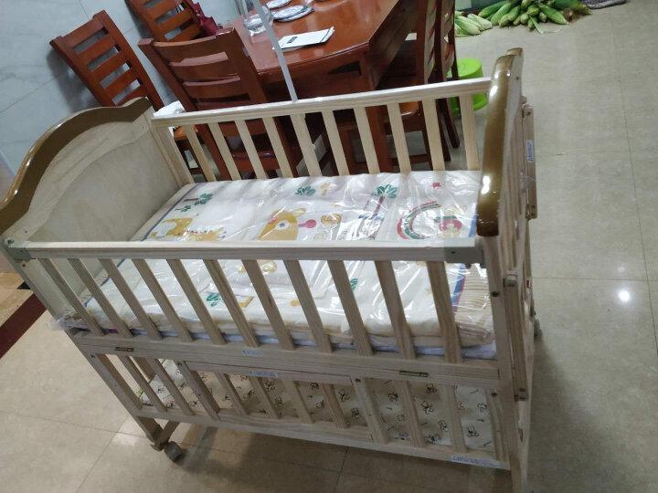 呵宝(HOPE)婴儿床实木环保无漆新生儿bb宝宝幼儿摇篮床 多功能可拼接加长儿童床 918PLUS款+床品5件套(可备注花色) 晒单图