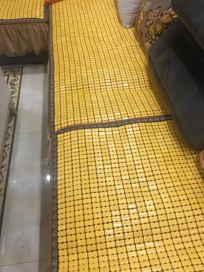 金字塔 沙发垫夏季沙发凉席垫麻将席坐垫子凉垫沙发套罩竹席贵妃位定做定制实木组合椅垫冰垫 原色金色 70*70cm  单条 晒单图