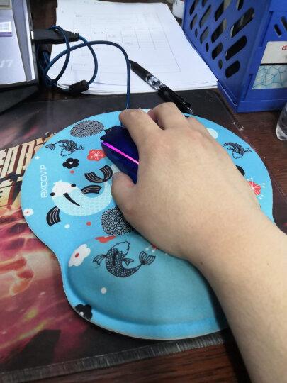 宜适酷(EXCO)鼠标垫 护腕皮质包边键盘托 超大号游戏锁边键盘垫腕托 BAS17001 Wrist 黑 长款 晒单图