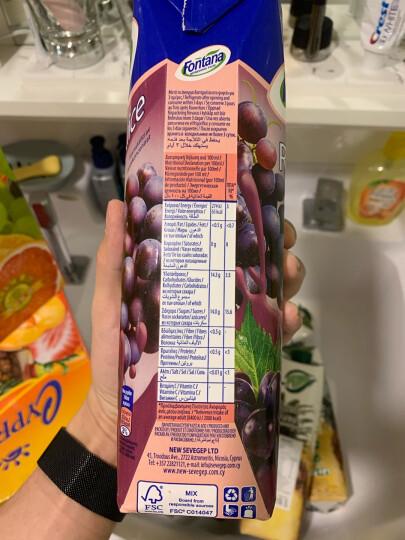地中海塞浦路斯进口 芳塔娜(Fontana)苹果汁100%纯果汁 1L*4瓶 果汁饮料 整箱礼盒 晒单图