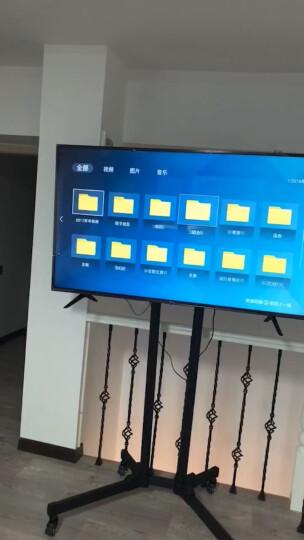 帝坤 通用电视双屏移动推车 视频会议教学落地挂架一体机显示器推车支架双屏升级版55-80寸适用 晒单图