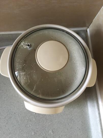 苏泊尔(SUPOR)电炖锅 电炖盅 隔水炖白瓷燕窝炖盅煲粥煮粥锅迷你0.9L小容量DZ09YC807B-20 晒单图