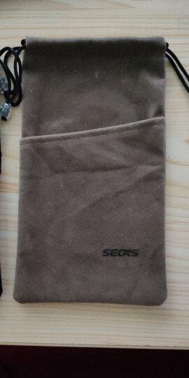 色格 手机袋子布袋充电宝保护套罗马仕小米移动电源收纳袋绒布数码小包硬盘防尘耳机束口袋便携 小号-棕灰 晒单图