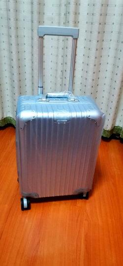 御旅全铝镁合金金属行李箱男万向轮商务拉杆箱女20寸旅行箱硬箱登机箱 黑色磨砂经典 22英寸 晒单图