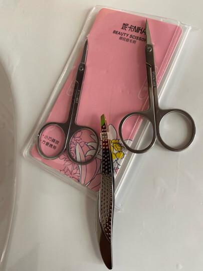 妮卡(NIKA)不锈钢斜口防滑眉夹(拔毛 拔胡子 修眉神器 美妆工具) 晒单图