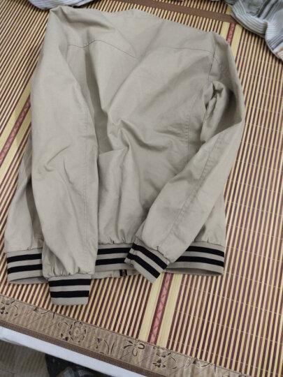 青邦 2018秋冬季新款修身夹克男男士秋冬款短款薄外套韩版男装 黑色 2XL适合140到155斤 晒单图