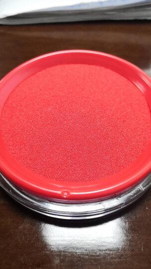 得力(deli)φ80mm透明圆形财务快干印台印泥 办公用品 红色9863 晒单图