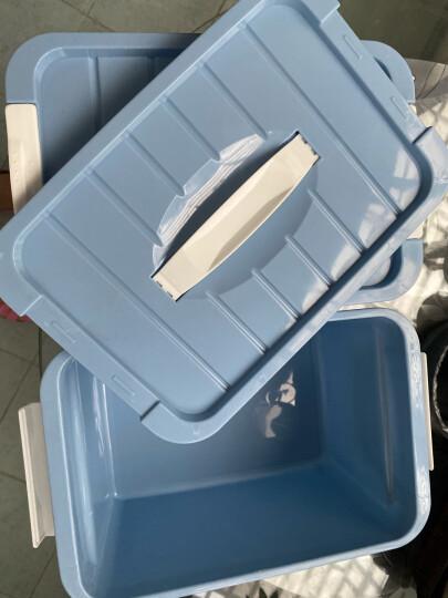访客 塑料手提收纳箱特大号衣服加厚家用清仓整理箱大号有盖玩具收纳盒宿舍储物箱子 印花四件套 晒单图