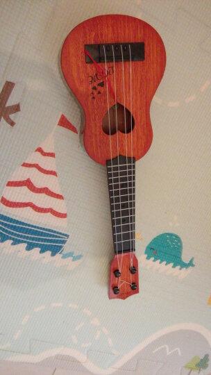 儿童21寸吉他乐器初学者可弹奏尤克里里真琴弦仿真小吉他礼物玩具 21寸菠萝型【浅褐色】送礼包 买1送7 晒单图