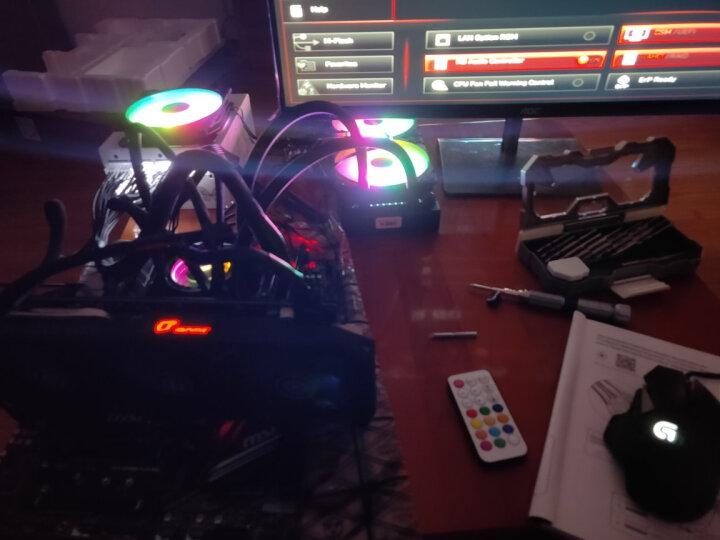 乔思伯(JONSBO)Eclipse日食PLUS-炫光白 12CM机箱风扇(LED发光风扇/主板3PIN接口+电源D型口接口) 晒单图