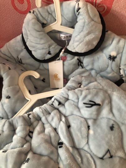 特丝格斯 睡衣女冬加厚套装珊瑚绒保暖夹棉衣加大码加绒法兰绒家居服 幸福果 M-(三层加厚夹棉) 晒单图