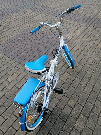 永久永久折叠车自行车 铝合金20寸7速/男女学生单车 雅途  蓝色 高配 20寸 晒单图
