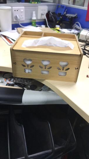 信发 TRNFA TN-M630 环保木质DIY创意多功能纸巾盒抽纸盒杂物整理盒 客厅桌面欧式遥控器收纳盒 晒单图