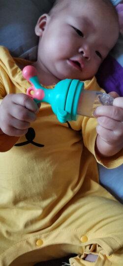 小白熊 宝宝咬咬果蔬乐 安抚咬咬袋 婴儿辅食器 硅胶牙胶 磨牙棒 绿色 09091 晒单图