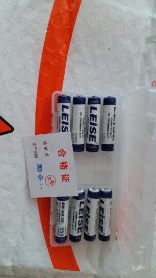 雷摄(LEISE)充电电池 7号/七号/AAA/950毫安(4节)电池盒装 适用:玩具/血压计/鼠标/遥控器(不含充电器) 晒单图