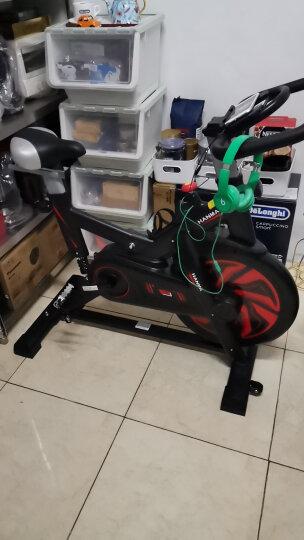 汗马 动感单车家用静音运动减肥器材健身车室内脚踏自行车 智能游戏APP+飞轮全包加纹+液压弹簧减震  黑色 晒单图