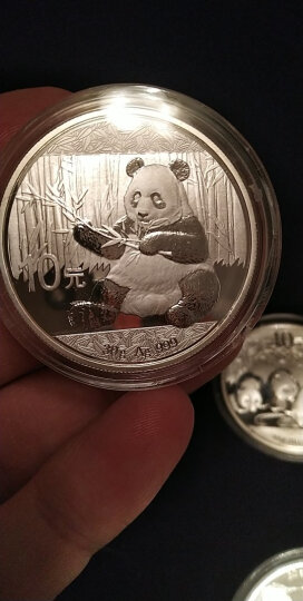 上海集藏 中国金币2017年熊猫金银币纪念币  30克熊猫银币 【中国金币封装币】 晒单图