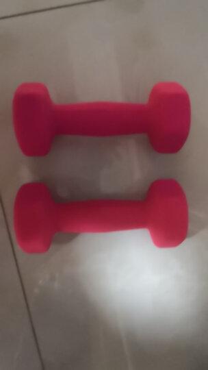 诚悦浸塑磨砂男女士通用哑铃运动健身家用训练套装1/2/3公斤3对套装 约26磅送三角哑铃架CY-106 晒单图