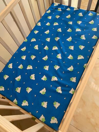 笑贝乐 婴儿床实木无漆环保bb床多功能宝宝童床摇篮床 可变书桌对接大床带滚轮  护栏可侧翻 床+蚊帐+印花五件套+棉被+棕垫  请备注花色 晒单图