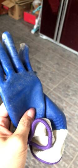 星宇XINGYU劳保手套N518 蓝丁晴浸胶耐磨防油防割防水透气涂胶木工工作防护手套企业专享12副 蓝色 M码 晒单图