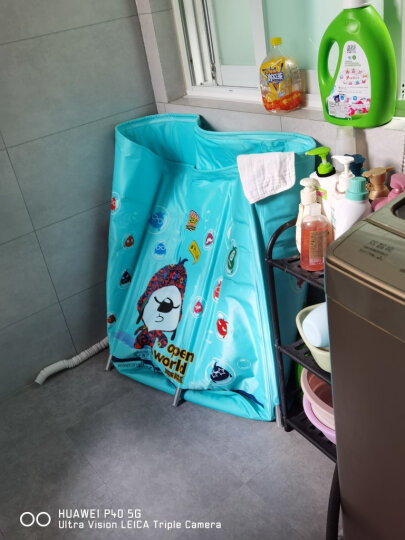诺澳 海绵宝宝新生婴儿游泳池 家庭用幼儿童游泳桶 可调合金支架洗澡桶免充气宝宝浴桶浴盆 大号戏水海洋球池 晒单图