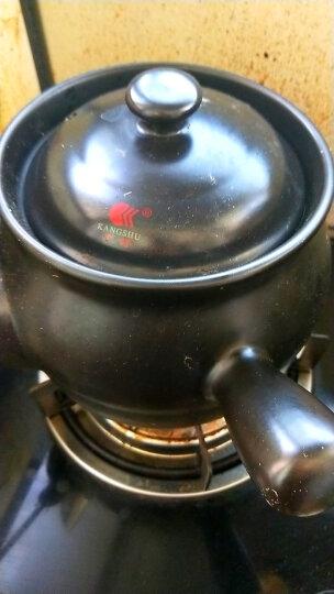 康舒KANGSHU 煎药砂锅 陶瓷家用煎中药 炖汤煲 明火直烧保温药效 3.1L 黑色药罐 晒单图