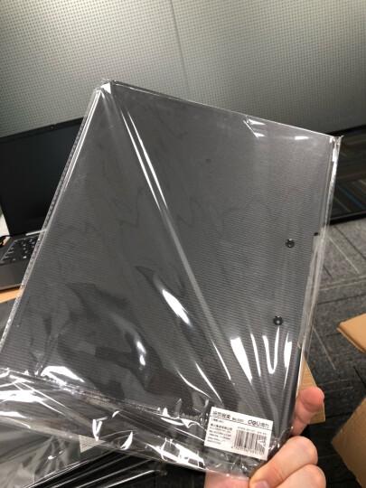 得力(deli)乐素系列A4单强力夹+插袋文件夹资料夹 学生收纳夹 水晶蓝 晒单图