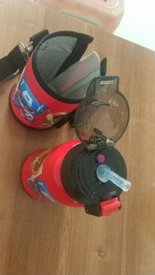 迪士尼(Disney)儿童保温杯保温壶带吸管不锈钢水杯男女学生双盖杯子水壶送杯套 550ML 6002S 苏菲紫色 晒单图