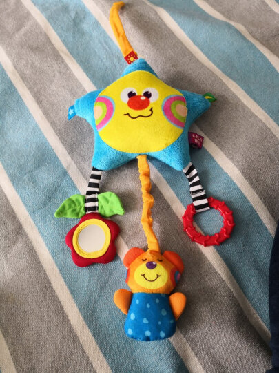 LALABABY/拉拉布书 益智玩具儿童男孩女孩玩具 婴儿0-1岁 宝宝车挂件音乐挂饰 床头挂件 星星熊 晒单图