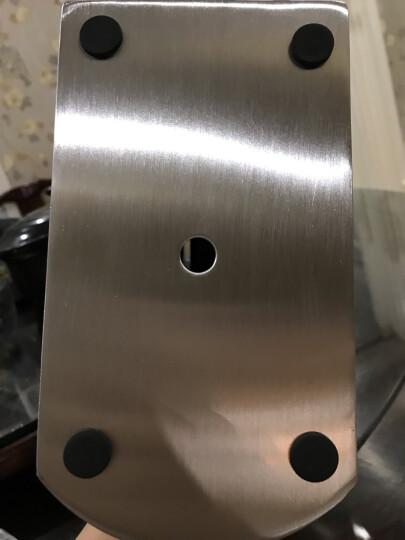 美厨(maxcook)不锈钢刀架 MCWA-DJ001 (刀座 适用不同大小刀具 6个刀槽 可拆卸易清洗 加厚不锈钢) 晒单图